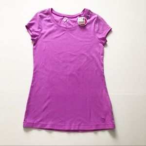 Justice for Girls Purple Short Sleeved T-Shirt 14
